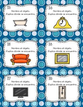 La casa y los muebles Conversation Cards