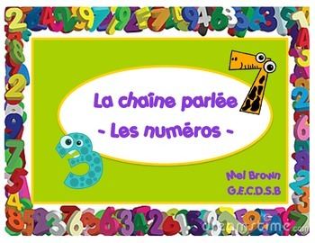 La chaîne parlée (Question & Answer race cards) - Les numéros