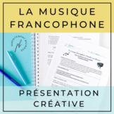 La musique francophone: Présenter une chanson / French Mus