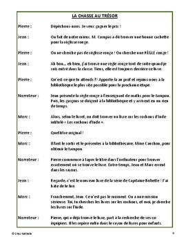 La chasse au trésor (Back to School French Reader's Theatre)