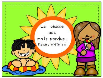 La chasse aux mots:  plaisirs d'été!