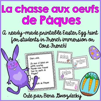 {La chasse aux oeufs de Paques!} A printable French Easter Egg Hunt