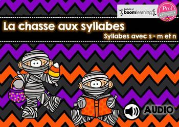 La chasse aux syllabes - Boom Cards
