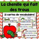 La chenille qui fait des trous par Eric Carle - French Vocabulary Cards