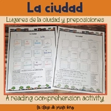 La ciudad y preposiciones The city and prepositions readin