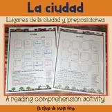 La ciudad y preposiciones The city and prepositions reading comprehension