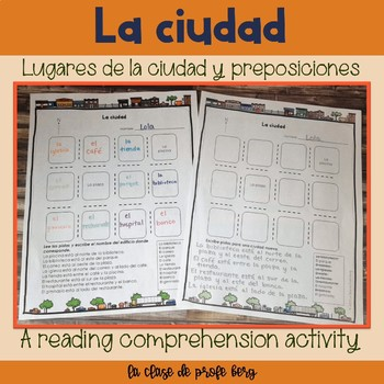 La ciudad y preposiciones The city and prepositions reading comprehension