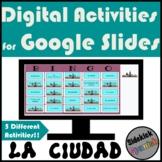 La ciudad City Spanish Vocabulary Digital Activities for G