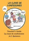 La clase de confesiones- Spanish I CI/TPRS Novel TG/FVR 60+Activities (Bundle)
