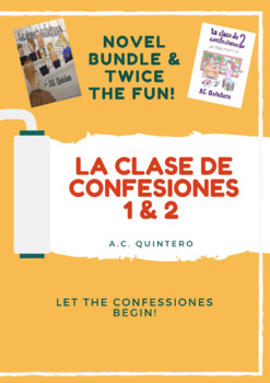 La clase de confesiones bundle 1 & 2- Spanish level 1+ Present Tense Novel