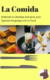 La comida - Food Unit Materials - Spanish