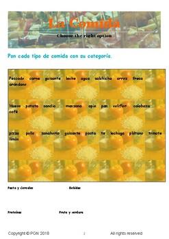 La comida / Food in Spanish