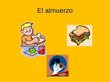 La comida Spanish food vocabulary Power Point ppt