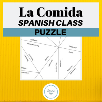 La comida The food Vocabulary Spanish Puzzle