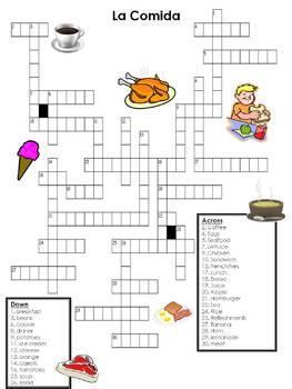 La comida Xword Puzzle