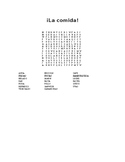 La comida buscapalabras/Food (in Spanish) word search