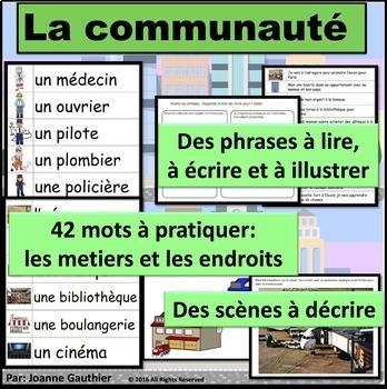 La communauté: Je pratique mon vocabulaire {French Vocabulary Practice}