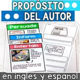 Comprension de lectura proposito del autor en ingles y espanol DIGITAL LEARNING