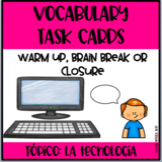 Spanish Technology Task Cards