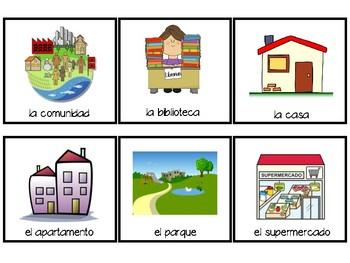 La comunidad- tarjetas de vocabulario
