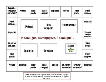 La conjugaison - Jeu de plateau, début A2