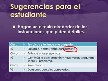 La conversación simulada PowerPoint for AP Spanish