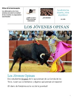 Running of the Bulls-Reading--Present tense- Debate- culture or controversy