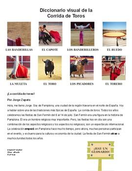 La corrida de toros/ Bull-fighting/ Reading, Writing, Debate- Spanish 2+