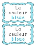 La couleur bleue - French Emergent Reader