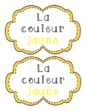 La couleur jaune - French Emergent Reader