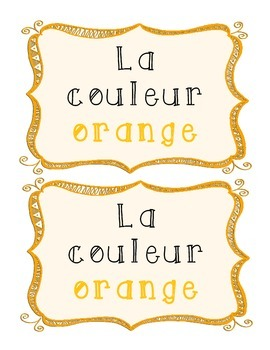 La couleur orange - French Emergent Reader