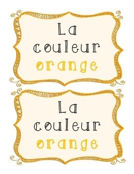 La couleur orange - French Emergent Reader