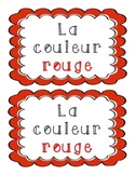 La couleur rouge - French Emergent Reader