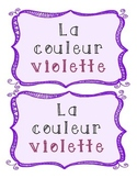 La couleur violette - French Emergent Reader