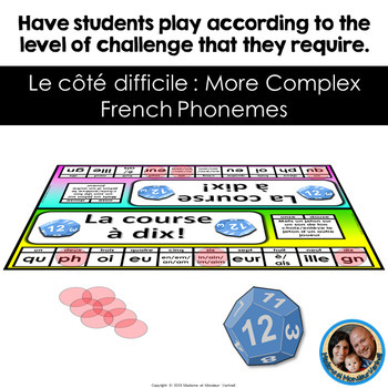 La course à dix - French Game to Practice French Sounds