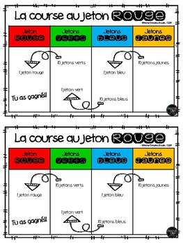 La course au jeton rouge