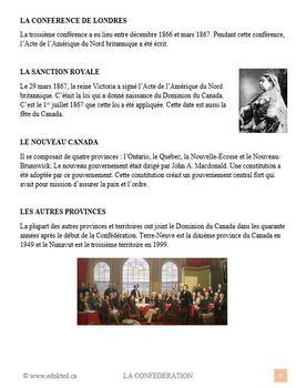 La Confédération, sciences humaines, French Immersion (#101)