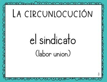 La economía y los negocios - Spanish Speaking Task Cards: Circumlocution