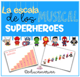 La escala Musical de los SUPERHEROES