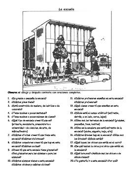 La escuela - Composición ilustrada