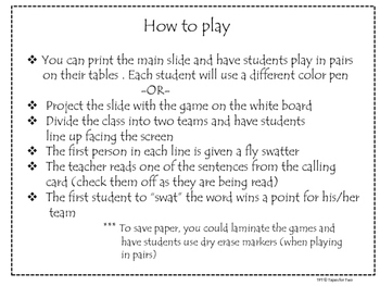 La escuela Vocabulary game