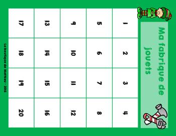 La fabrique de jouets des lutins [jeu de cartes mathématique]