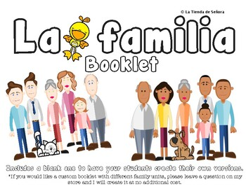 La familia - Booklet for story telling