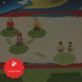 La familia Bundle! Family Tree Flashcards & Worksheets