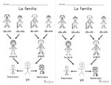 La familia- Family Tree Worksheets PK-EE