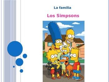 """La familia """"Los Simpsons"""""""