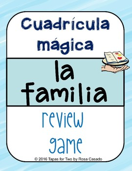 La familia Magic Squares Vocabulary game