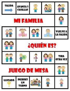 La familia & Las mascotas - Board Games + Free Make-Your-Own (Blank) Version