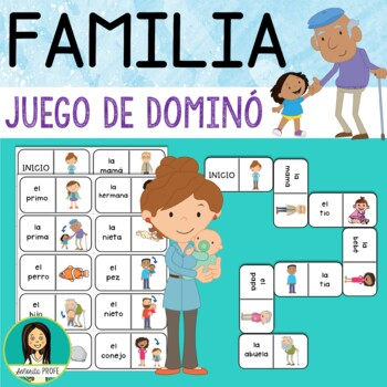 La familia / Spanish Familiy Domino Game