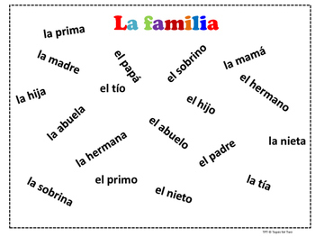 La familia Spanish family Flyswatter game 2 games